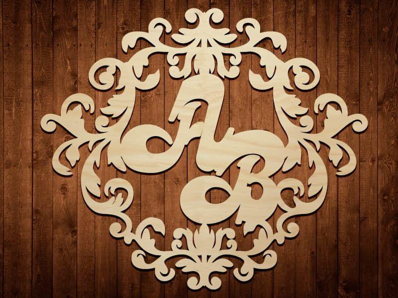Свадебный герб из фанеры № СГ 0003, 60*70 см