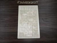 Игра головоломка тетрис из фанеры 3 мм, 18*29 см