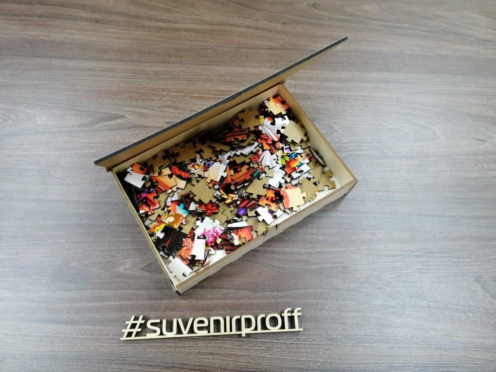 Пазл с фотопечатью из МДФ 3 мм в подарочной коробке, 41*29 см, 187 элементов