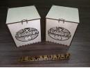 Подарочная коробочка с вырезанной надписью, 10*10*12 см