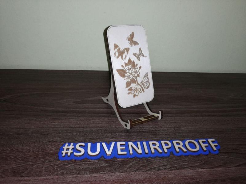 Подставка для телефона из фанеры 4 мм на ножках