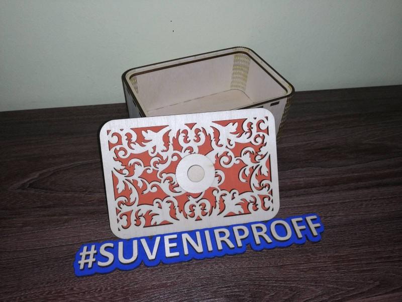 Прямоугольная коробочка с гибкими стенками, 16*11*7 см