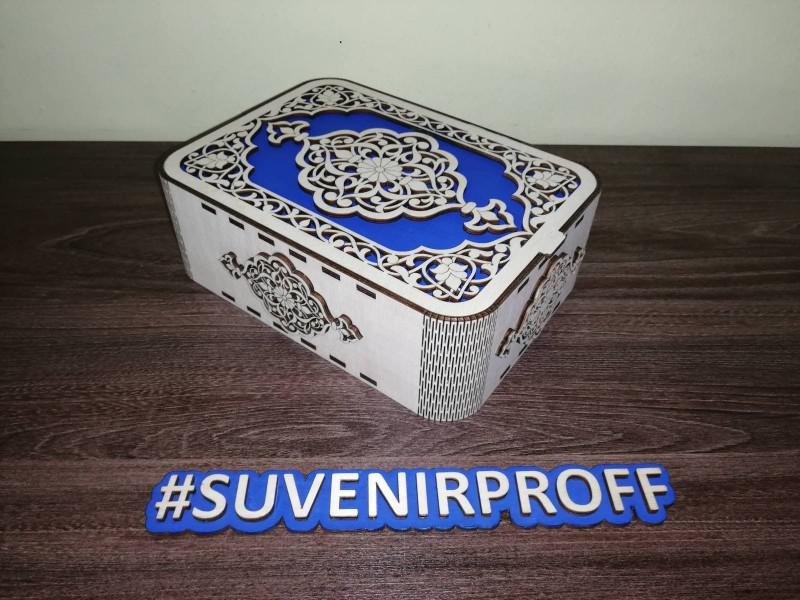 Узорная коробка с гибкими стенками 20*15*7 см