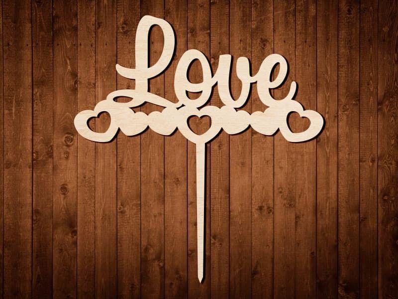 """Макет топпера """"Love"""" №0163"""