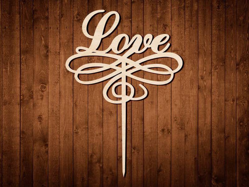 """Макет топпера """"Love"""" №0165"""