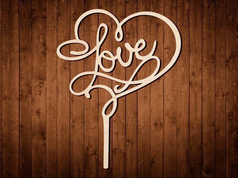 "Топпер для украшений ""Love"" №0169"