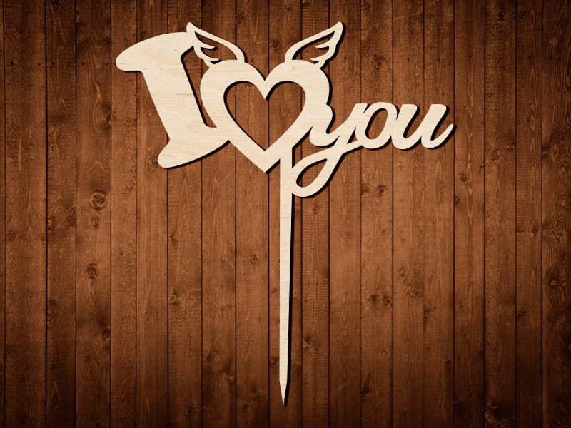 """Топпер для украшений """"I Love you"""" №0170"""