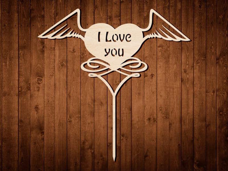"Макет топпера ""I Love you"" №0172"