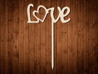 "Топпер для украшений ""LOVE"" №0304"