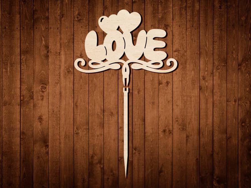 "Топпер для украшений ""LOVE"" №0329"
