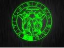 """Ночник круглый """"Знаки зодиака Близнецы"""" на светодиодной подставке"""