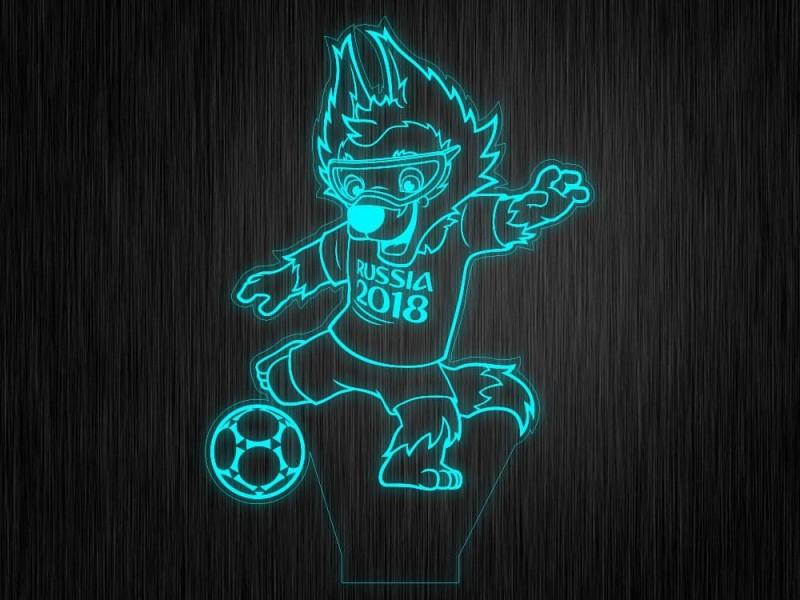 """Ночник """"Волк с мячом"""" на светодиодной подставке"""