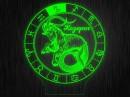 """Ночник круглый """"Знаки зодиака Козерог"""" на светодиодной подставке"""