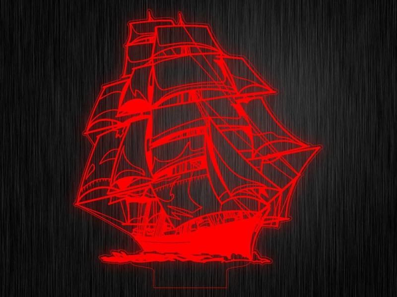 """Ночник """"Корабль"""" на светодиодной подставке"""