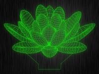 """3D ночник """"Лотос"""" на светодиодной подставке"""