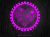 """Ночник """"Любовь Сердце №91"""" из акрила на светодиодной подставке"""