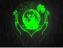 """Ночник """"Любовь сердце"""" №3 на светодиодной подставке"""