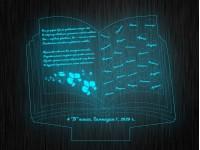 """Ночник """"Книга с именами"""" №851 на светодиодной подставке"""