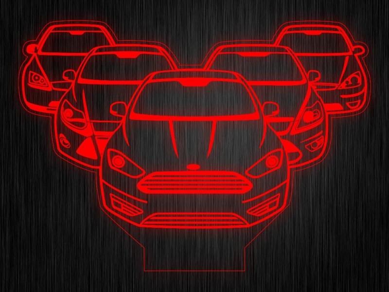 """Ночник """"Форд фокус"""" на светодиодной подставке"""