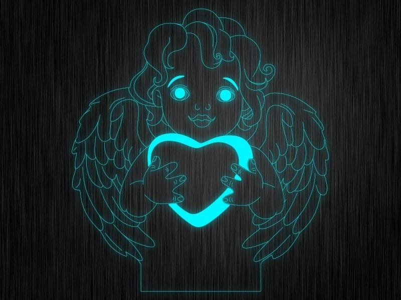 """Ночник """"Ангелок №602"""" на светодиодной подставке"""
