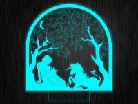 """Ночник """"Единорог №692"""" на светодиодной подставке"""