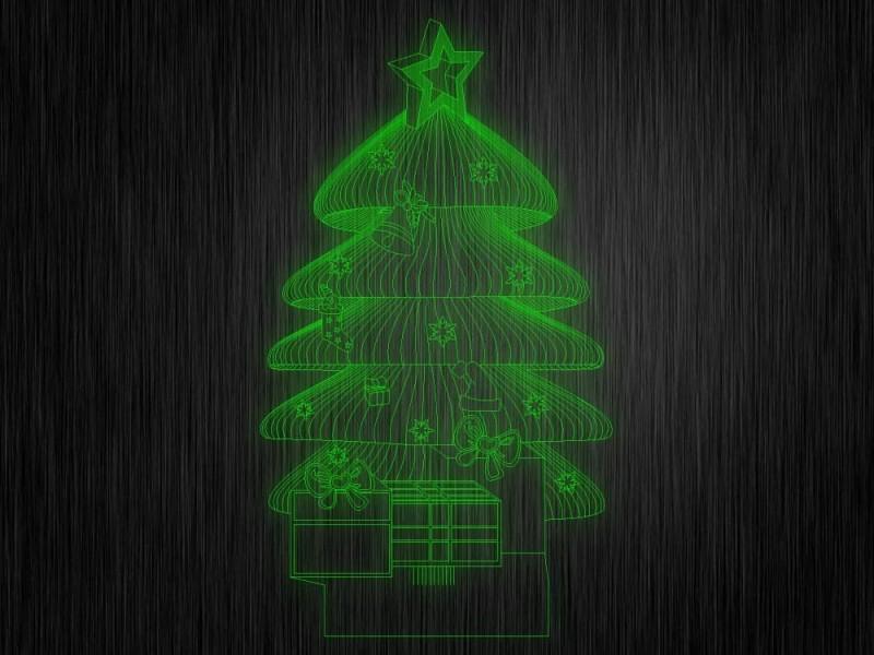 """Ночник """"Елка новогодняя №203"""" из акрила на светодиодной подставке"""