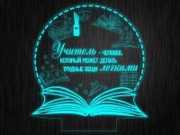 """Макет """"Книга. Учителю №848"""" для светильника"""