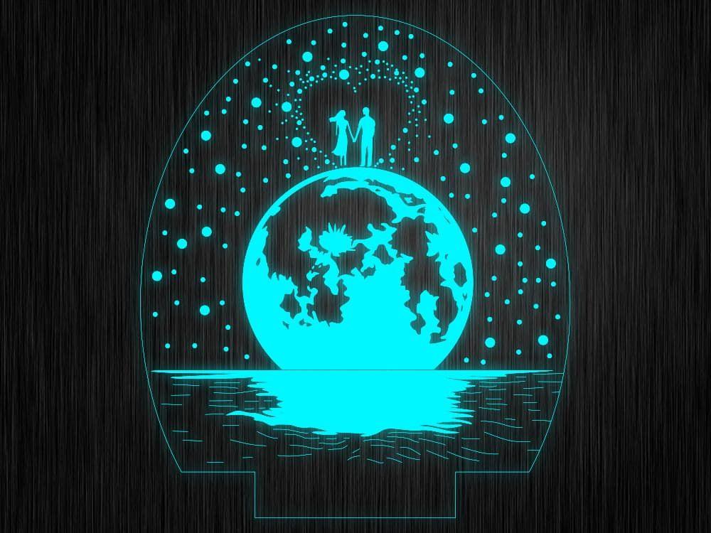 """Ночник """"Космос №718"""" на светодиодной подставке"""