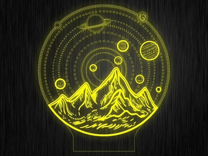 """Ночник """"Космос. Планеты №396"""" на светодиодной подставке"""