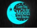 """Ночник """"Луна. Детский №466"""" на светодиодной подставке"""