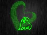 """Ночник """"Любовь. Сердце. ДСВ №418"""" на светодиодной подставке"""