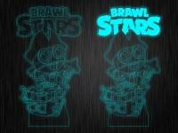 """Ночник """"Brawl Stars Карл"""" на светодиодной подставке"""