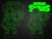 "Ночник ""Brawl Stars Скин"" на светодиодной подставке"