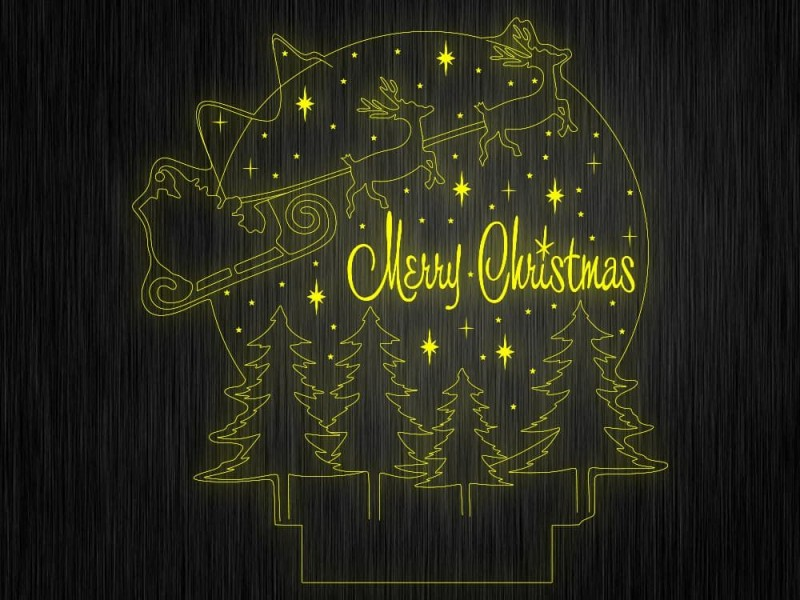 """Ночник """"Рождество. НГ. №295"""" на светодиодной подставке"""