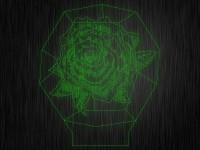 "Ночник ""Роза. Цветок №201"" на светодиодной подставке"