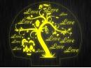 """Ночник """"Сердце. ДСВ. Любовь №647"""" на светодиодной подставке"""