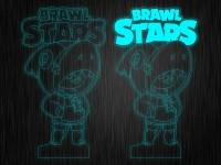 """Ночник """"Brawl Stars Леон Акула"""" на светодиодной подставке"""