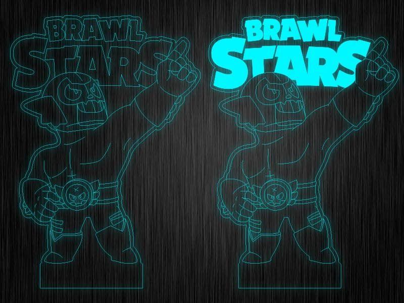 """Ночник """"Brawl Stars Эль Примо"""" на светодиодной подставке"""