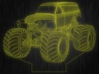"""Ночник """"Monster Truck. 3D №99"""" на светодиодной подставке"""
