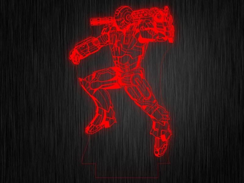 """Ночник """"Робот №686"""" из акрила на светодиодной подставке"""