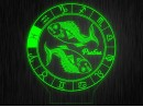 """Ночник круглый """"Знаки зодиака Рыбы"""" на светодиодной подставке"""