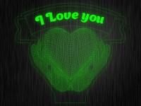 """3D ночник """"Сердце в руках"""" на светодиодной подставке"""