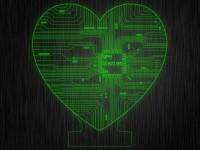 """Ночник """"Сердце плата №323"""" из акрила на светодиодной подставке"""