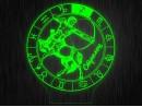"""Ночник круглый """"Знаки зодиака Стрелец"""" на светодиодной подставке"""
