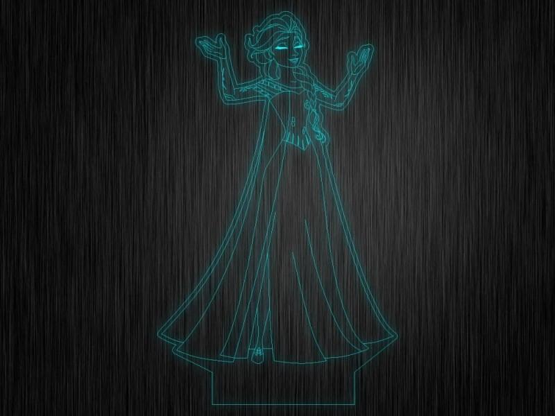 """Ночник """"Холодное сердце"""" №361 на светодиодной подставке"""