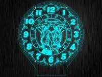 """Макет часы """"Знаки зодиак близнецы"""" для светильника"""