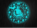 """Ночник часы """"Знаки зодиак водолей"""" на светодиодной подставке"""