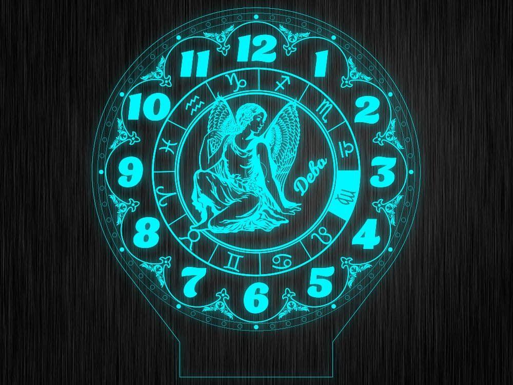 """Макет часы """"Знаки зодиак дева"""" для светильника"""