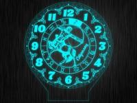 """Ночник часы """"Знаки зодиак стрелец"""" на светодиодной подставке"""