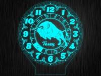 """Макет часы """"Знаки зодиак телец"""" для светильника"""